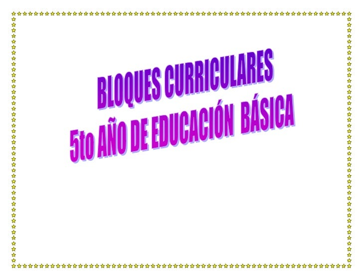 Bloque curricular bien