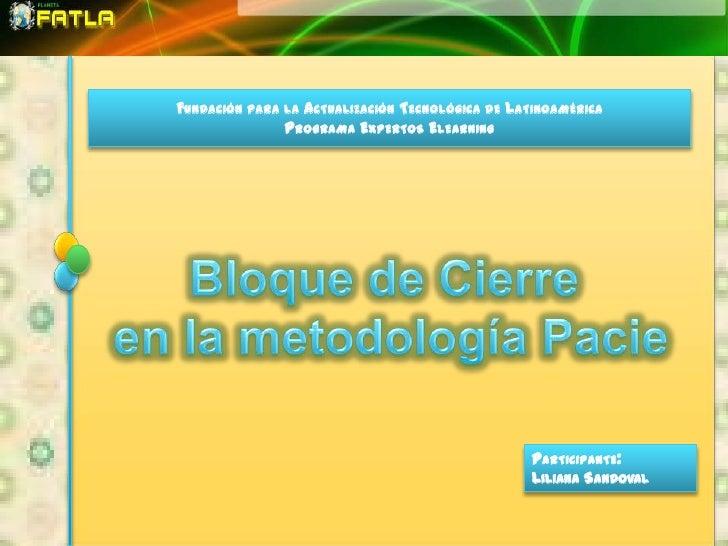 FUNDACIÓN PARA LA ACTUALIZACIÓN TECNOLÓGICA DE LATINOAMÉRICA               PROGRAMA EXPERTOS ELEARNING                    ...