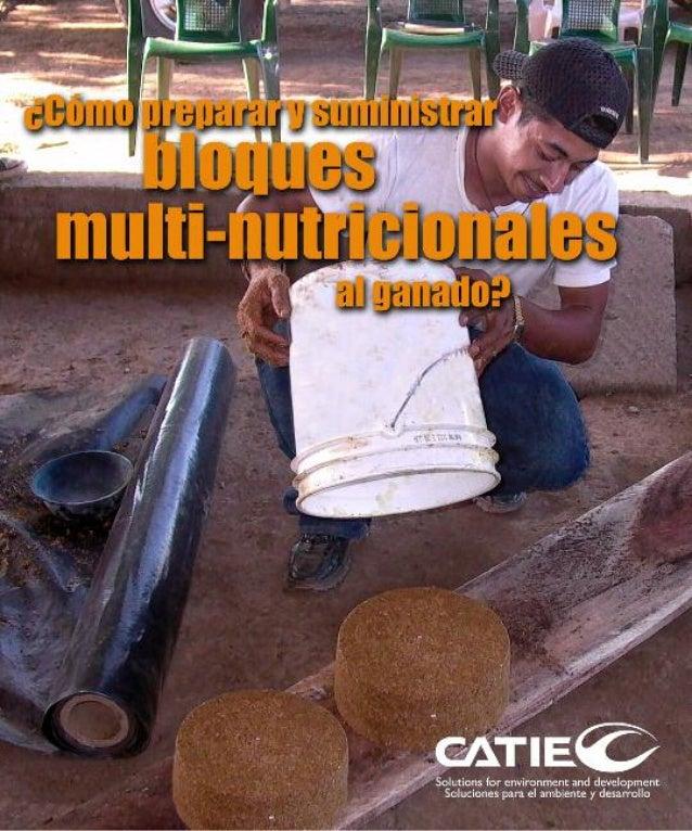 Serie técnica • Manual técnico No. 92 Centro Agronómico Tropical de Investigación y Enseñanza Managua,Nicaragua - 2009 Tit...