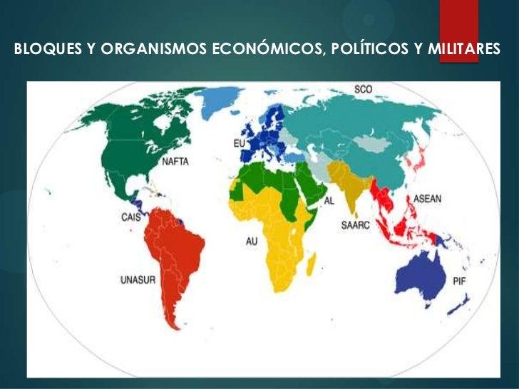 Bloques y organismos  internacionales