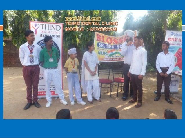 rotary club ludhiana greater Dental Awareness at Blossom school  by Dr Rajanbir Singh Thind