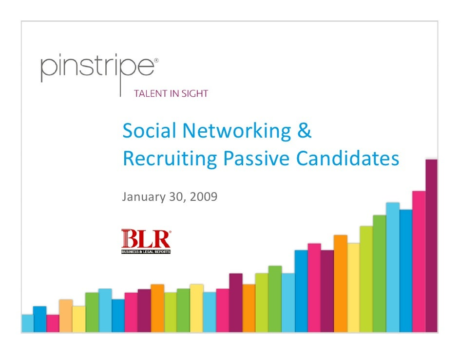 Social Networking & Recruiting Passive Candidates