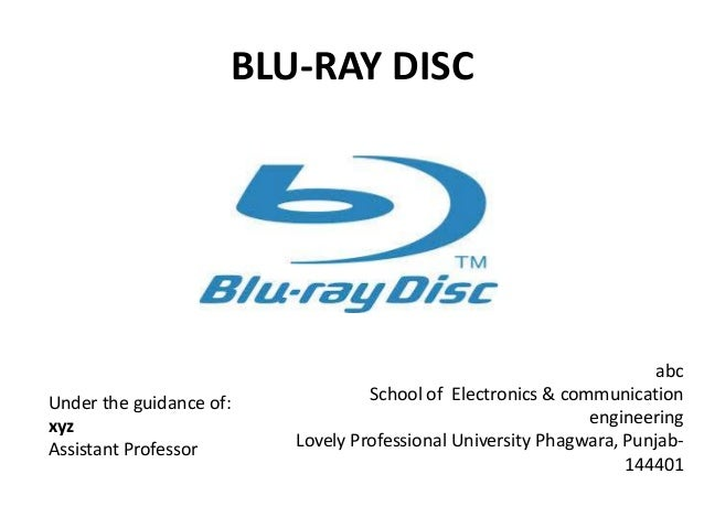 BLU-RAY DISC                                                                      abcUnder the guidance of:            Sch...