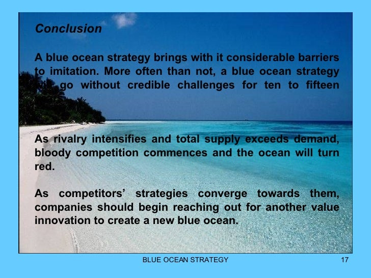 conclusion of blue ocean strategy pdf