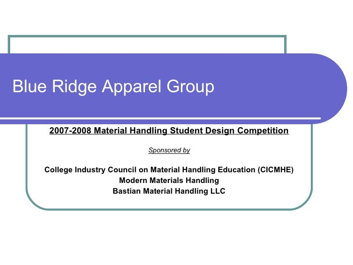 Blue Ridge Apparel Group