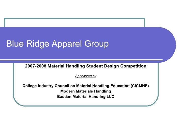 Blue Ridge Apparel Group