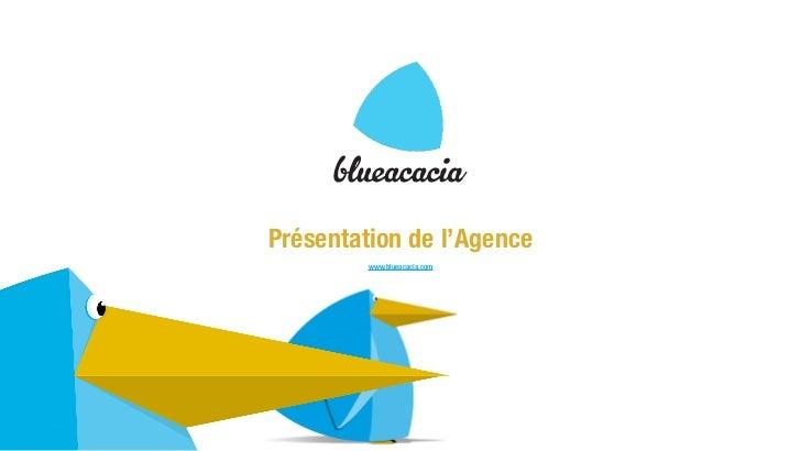 Présentation de l'Agence         www.blueacacia.com