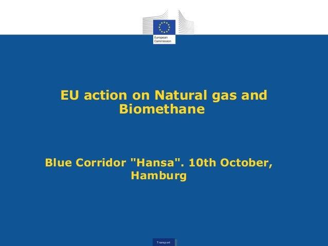 "TransportTransport EU action on Natural gas and Biomethane Blue Corridor ""Hansa"". 10th October, Hamburg"