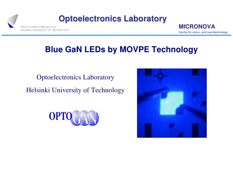 Blue GaN LEDs by MOVPE Technology
