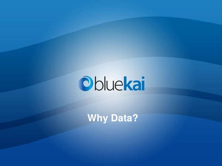 Why Data?<br />