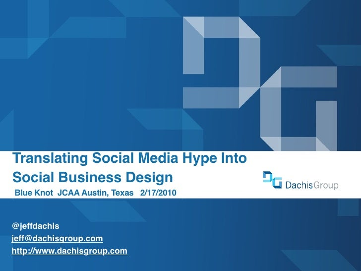 Moving Beyond Social Media Hype to Social Business Design