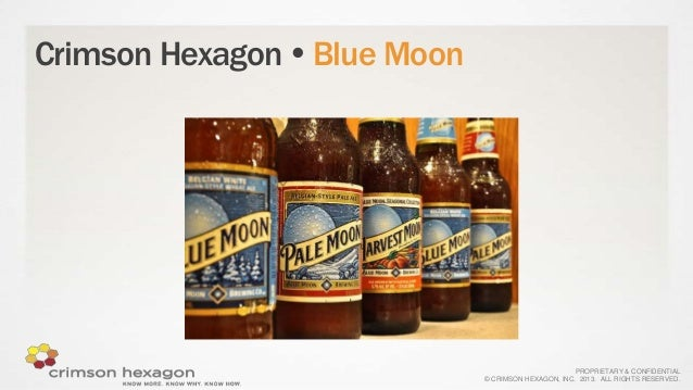 Crimson Hexagon  Blue Moon  PROPRIETARY & CONFIDENTIAL © CRIMSON HEXAGON, INC. 2013. ALL RIGHTS RESERVED.
