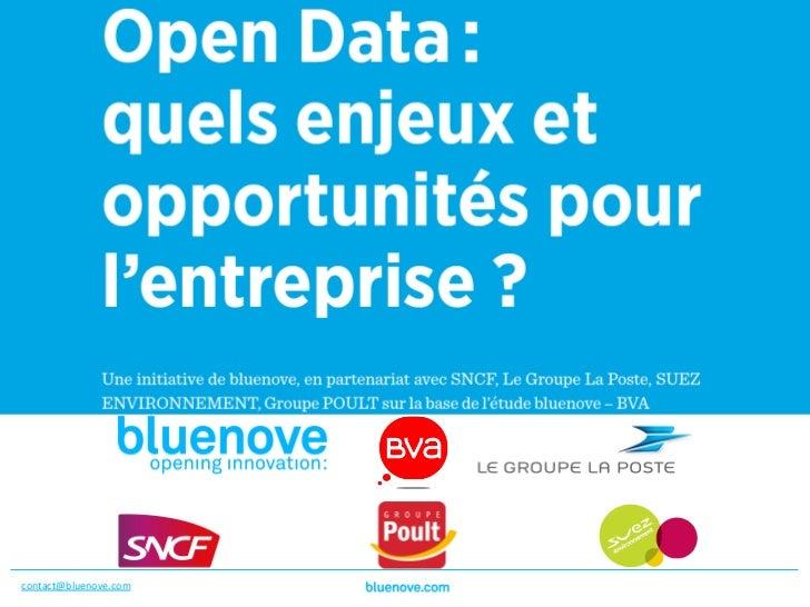Présenta1on du livre blanc,                                L'Open data : quels enjeux pour            ...