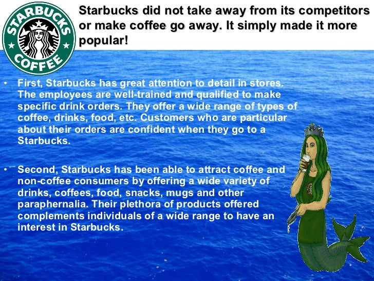 starbucks blue ocean strategy Providing bos blue ocean strategy information the blue ocean strategy shows the simultaneous pursuit of differentiation and low cost strategies.