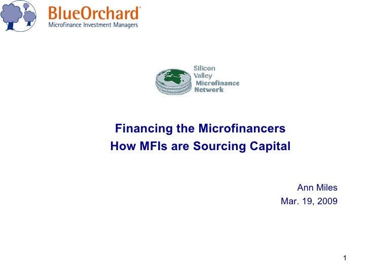 BlueOrchard presentation to SVMN 2009.03.19
