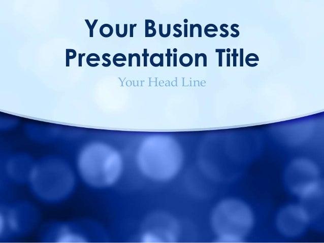 Classic PowerPoint Presentation