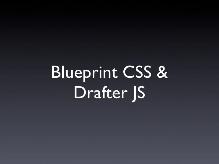 Blueprint & Drafter JS