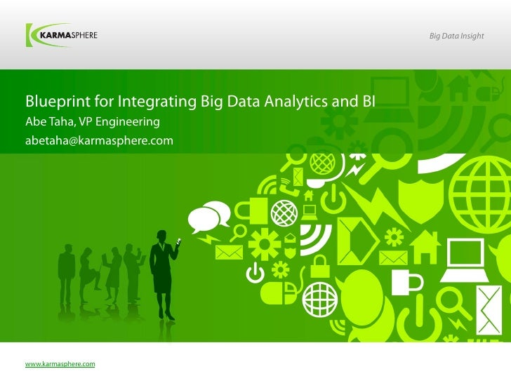 Big Data InsightBlueprint for Integrating Big Data Analytics and BIAbe Taha, VP Engineeringabetaha@karmasphere.comwww.karm...