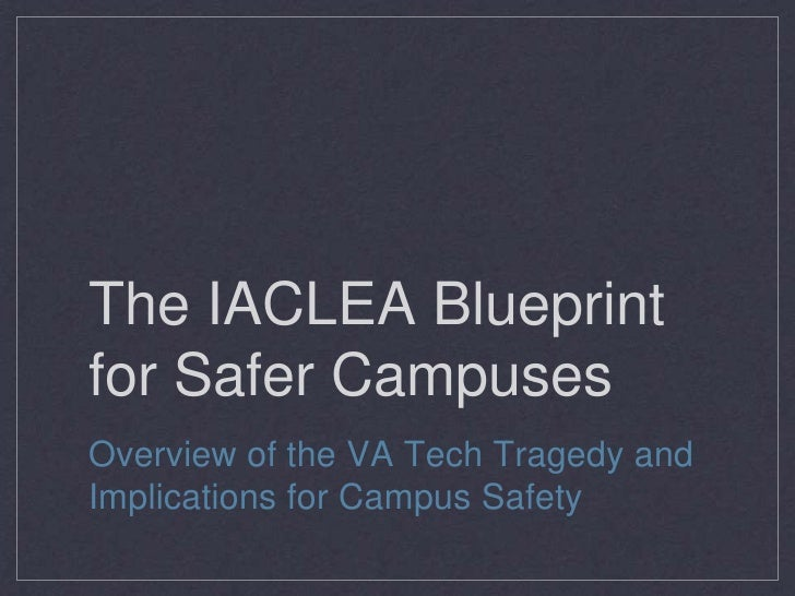 The IACLEA Blueprint for Safer Campuses, Margolis Healy & Associates, LLC