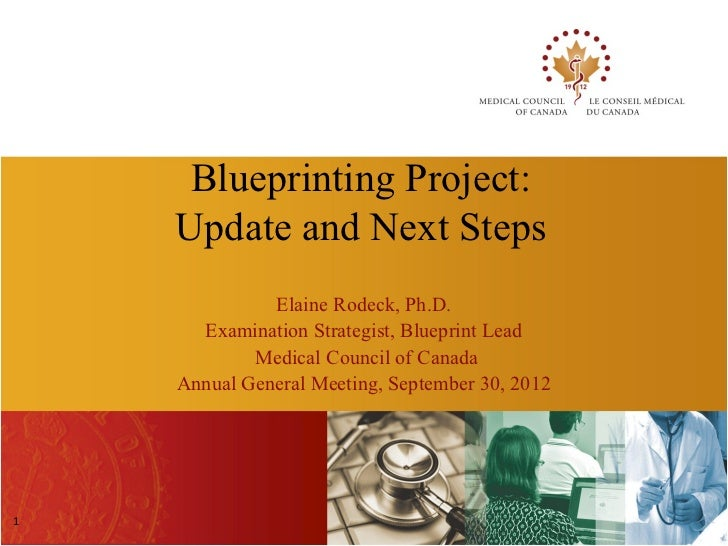 Blueprinting Project:    Update and Next Steps              Elaine Rodeck, Ph.D.      Examination Strategist, Blueprint Le...
