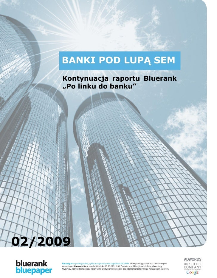 Banki pod lupą SEM - raport Bluerank
