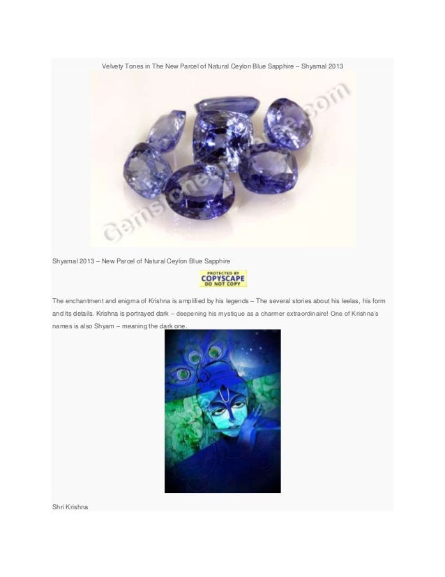 blue sapphire and gem therapy benefits from