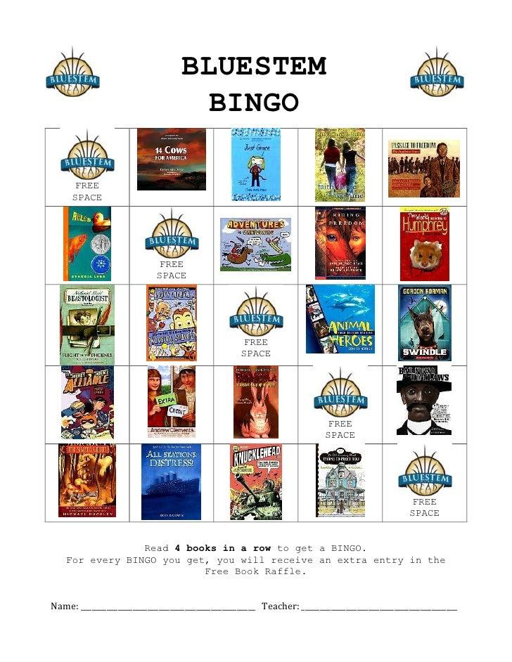2012 Bluestem Bingo