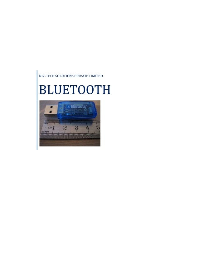NIV-TECH SOLUTIONS PRIVATE LIMITED BLUETOOTH
