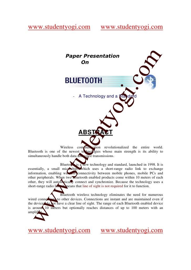 www.studentyogi.com                            www.studentyogi.com                            Paper Presentation          ...