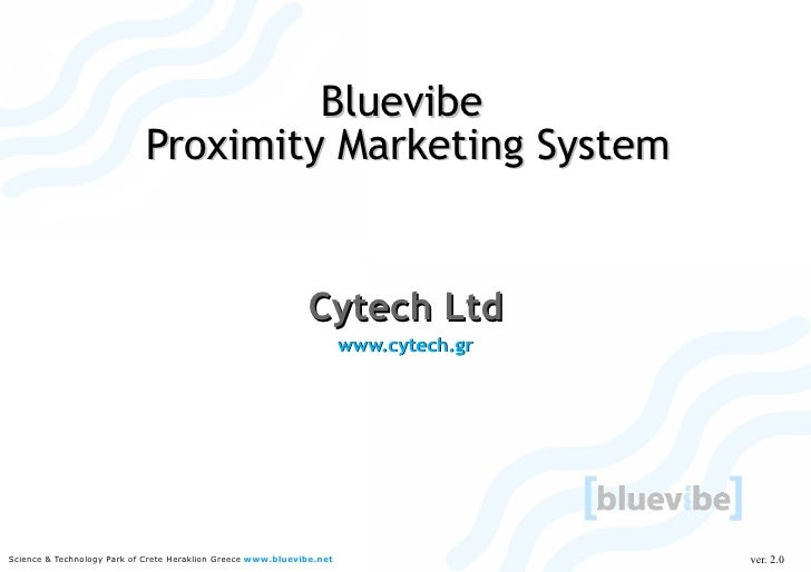 Proximity Marketing Platform Bluevibe Presentation