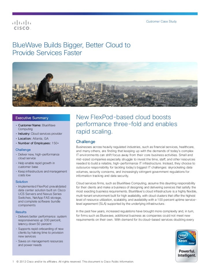 Customer Case StudyBlueWave Builds Bigger, Better Cloud toProvide Services Faster    Executive Summary                    ...