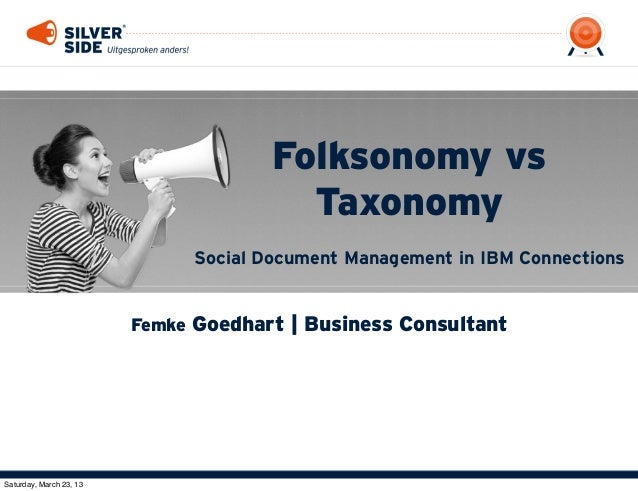 Folksonomy vs                                         Taxonomy                               Social Document Management in...
