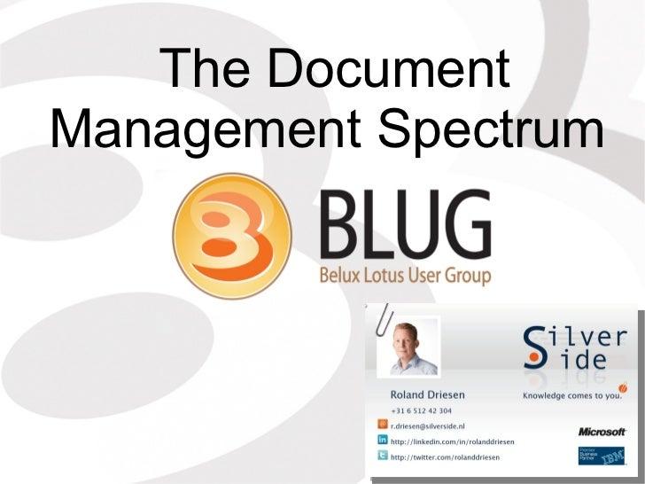 The Document Management Spectrum