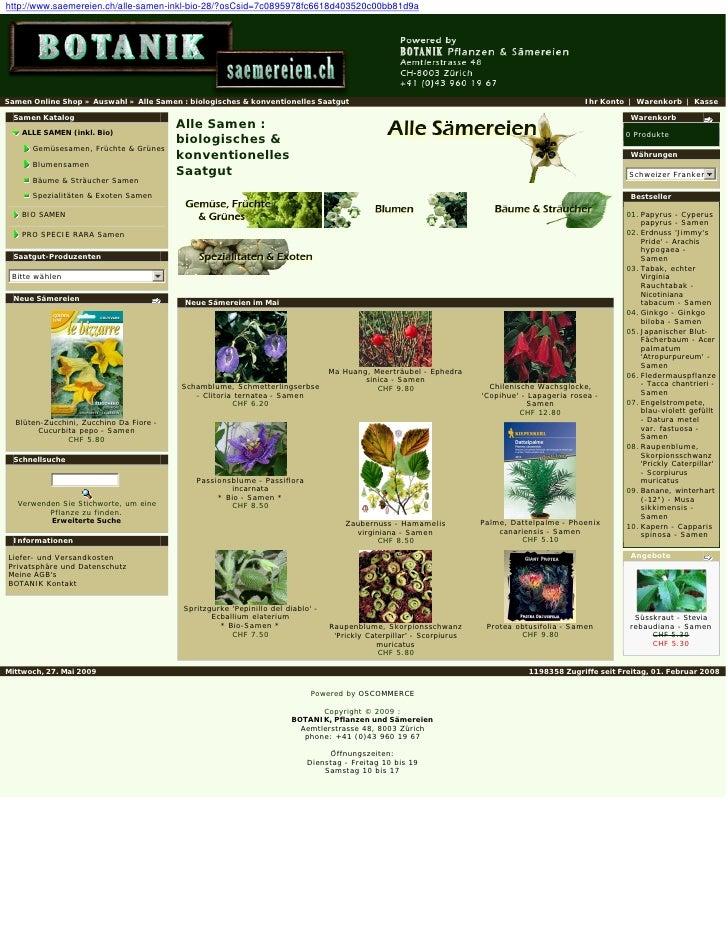 Blumen Samen Online Shop