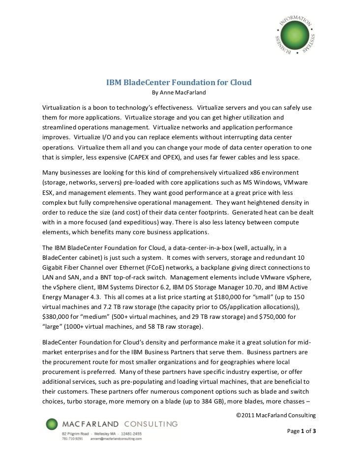 IBMBladeCenterFoundationforCloud                                        ByAnneMacFarlandVi...