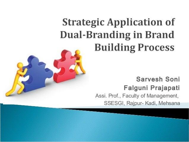 Sarvesh Soni           Falguni PrajapatiAssi. Prof., Faculty of Management,   SSESGI, Rajpur- Kadi, Mehsana