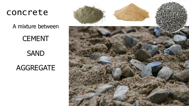 Concrete Presentation Of Building Materials