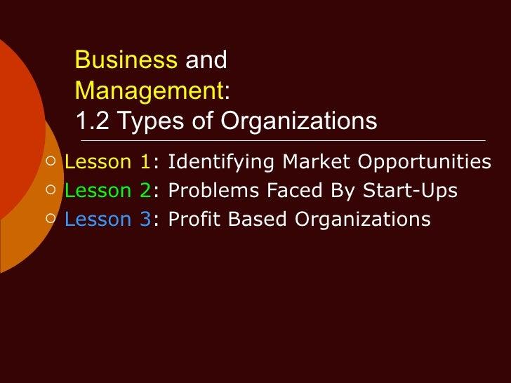 Bm 1.2 Types Of Organizations