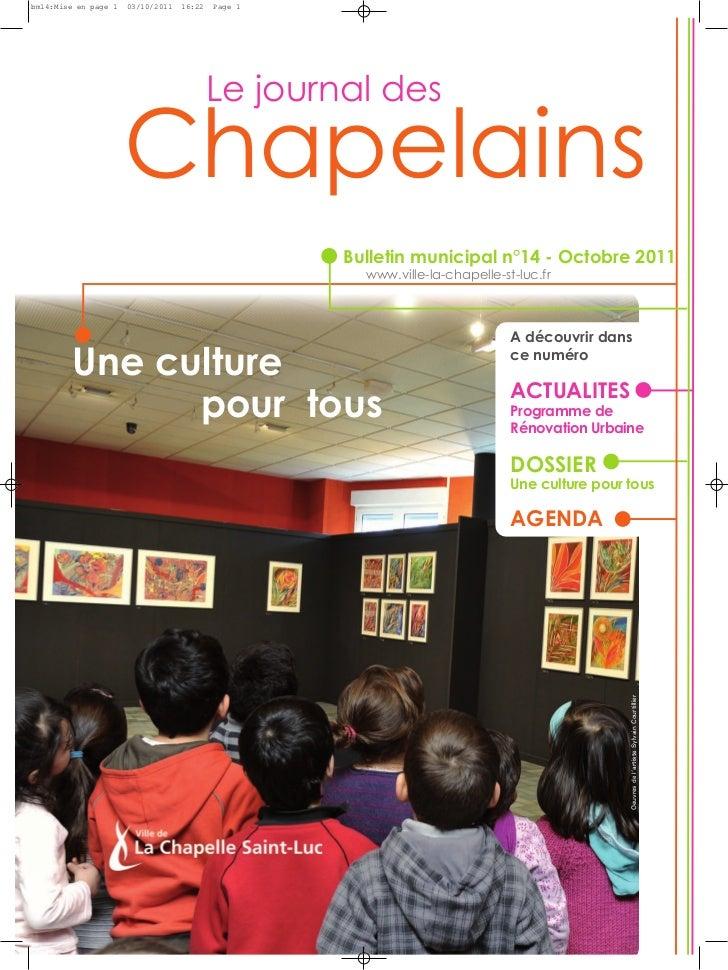 Chapelainsbm14:Mise en page 1   03/10/2011   16:22   Page 1                                           Le journal des      ...