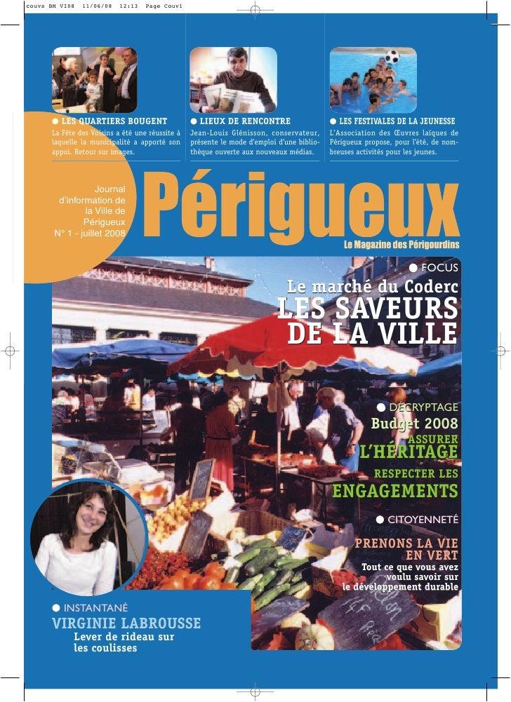 Périgueux - Bulletin municipal juillet 2008