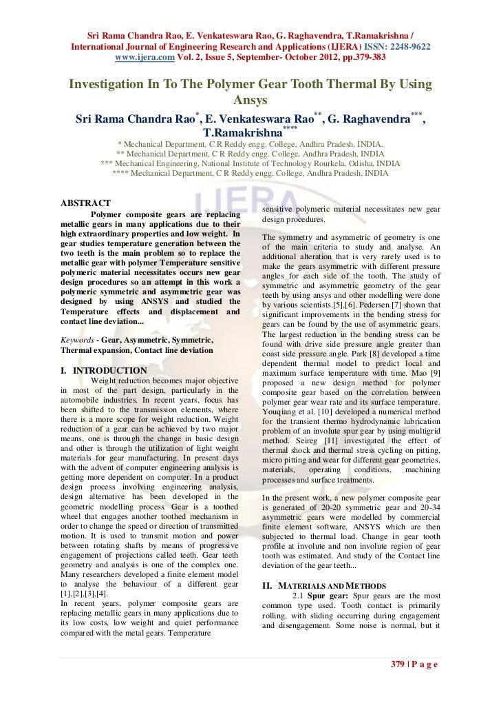 Sri Rama Chandra Rao, E. Venkateswara Rao, G. Raghavendra, T.Ramakrishna /   International Journal of Engineering Research...