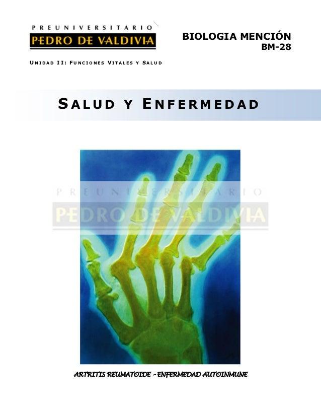 BIOLOGIA MENCIÓN                                                          BM-28UNIDAD II: FUNCIONES VITALES Y SALUD       ...