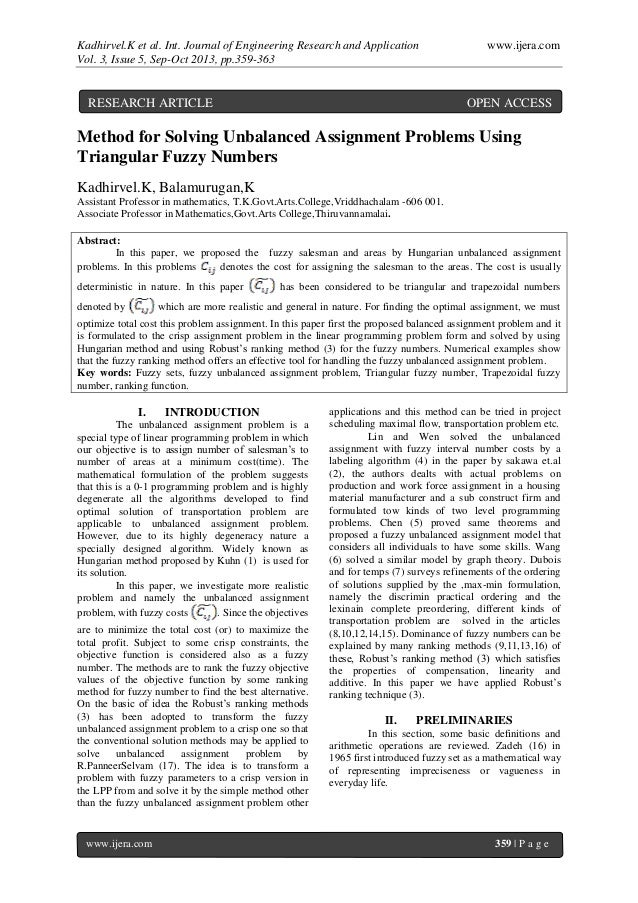 Kadhirvel.K et al. Int. Journal of Engineering Research and Application www.ijera.com Vol. 3, Issue 5, Sep-Oct 2013, pp.35...