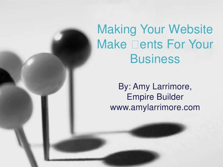 When a Website Makes Cents for your Craft Business