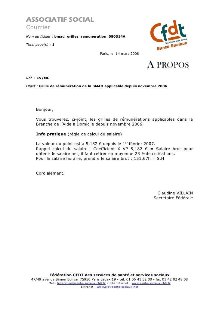 ASSOCIATIF SOCIAL Courrier Nom du fichier : bmad_grilles_remuneration_080314A  Total page(s) : 1                          ...