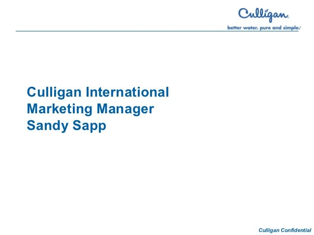 Culligan Intermational iPad App Presentation