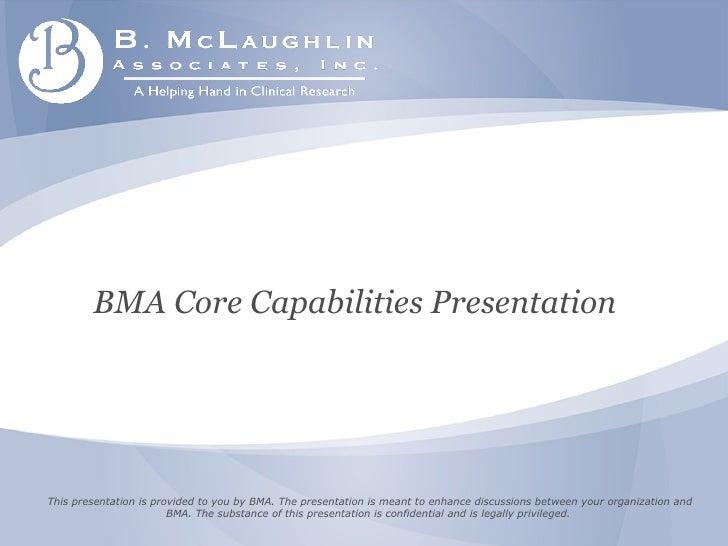 BMA Presentation