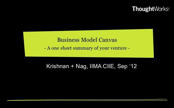 Business Model Canvas (workshop at IIM Ahmedabad)