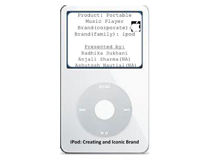 Product: Portable     Music Player   Brand(corporate):  Brand(family): ipod       Presented by:     Radhika Sukhani    Anj...