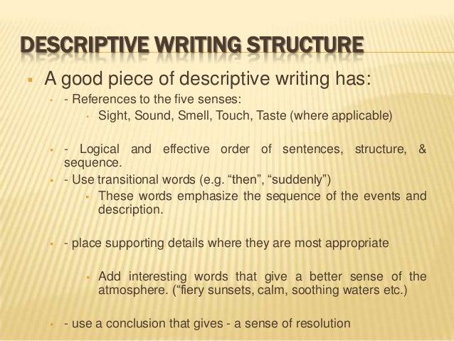 good descriptive essay